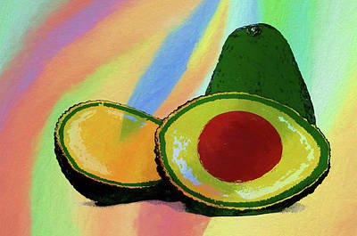 Painting - Colorful Avocado Art by Dan Sproul