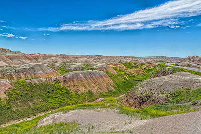 Photograph - Colorful Badlands by John M Bailey