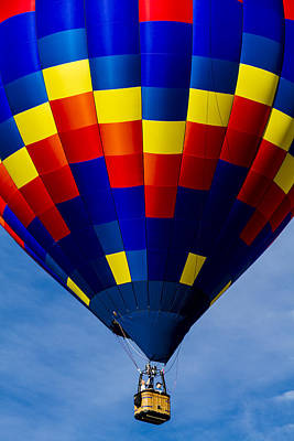 Photograph - Colorful Balloon Flying High by Teri Virbickis