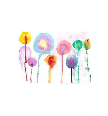 Balloons Painting - Colorful Balloons by Nat Air Craft
