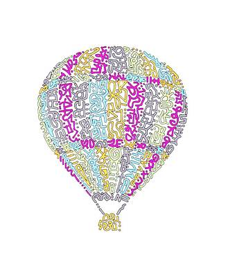 Coldplay Digital Art - Colorful Baloon by Leora Cia