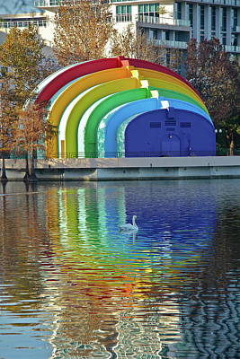 Photograph - Colorful Bandshell by Denise Mazzocco