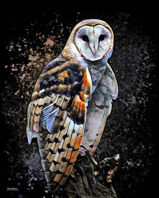 Colorful Barn Owl   Art Print