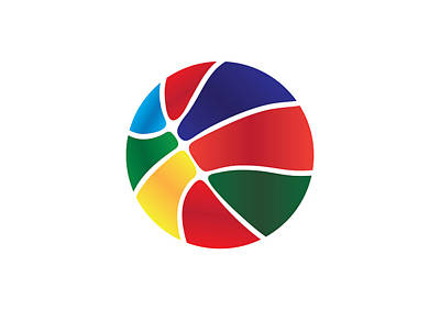 Colorful Basket Ball Art Print