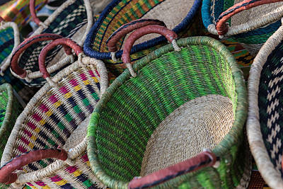Photograph - Colorful Baskets by Randy Walton