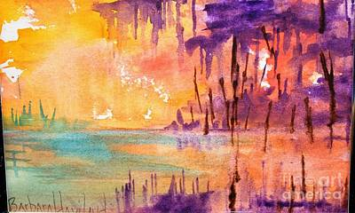 Painting - Colorful Bayou by Barbara Haviland