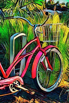 Photograph - Colorful Beach Bike by Debra and Dave Vanderlaan