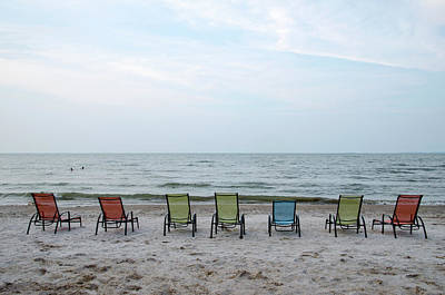 Photograph - Colorful Beach Chairs by Ann Bridges
