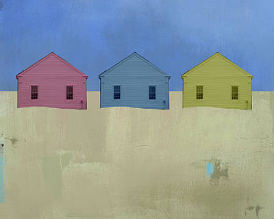 Beach Mixed Media - Colorful Beach Cottage by Jacquie Gouveia