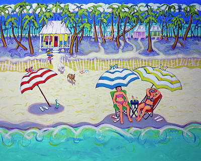 Painting - Colorful Beach Hideaway by Rebecca Korpita