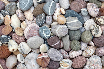 Photograph - Colorful Beach Pebbles by Elena Elisseeva