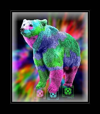 Manipulation Photograph - Colorful Bear by Ericamaxine Price