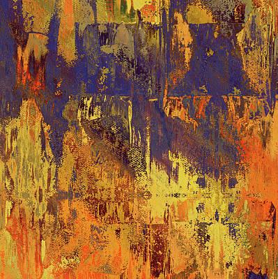 Mixed Media - Colorful Beauty Abstract Grunge by Georgiana Romanovna
