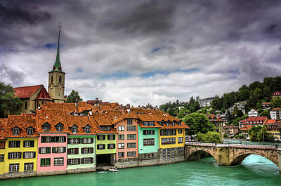 Steeple Photograph - Colorful Bern Switzerland  by Carol Japp