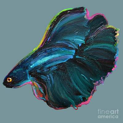 Painting - Colorful Betta by Robert Phelps