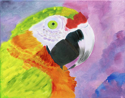 Painting - Rainbow Parrot by Meryl Goudey