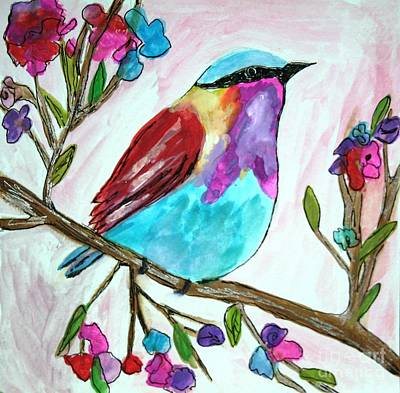 Painting - Colorful Bird by Victoria Hasenauer
