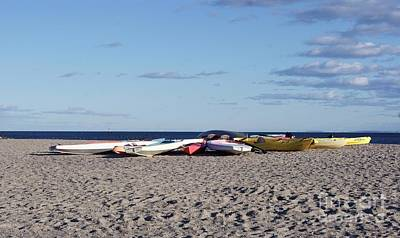 Photograph - Colorful Boats Ashore by Margie Avellino