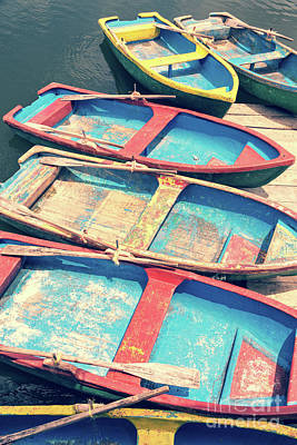 Wall Art - Photograph - Colorful Boats by Delphimages Photo Creations