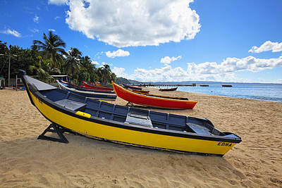 Aguadilla Photograph - Colorful Boats On A Beach by George Oze