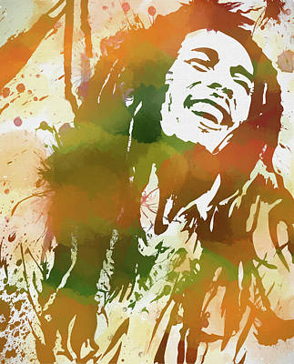 Painting - Colorful Bob Marley by Dan Sproul