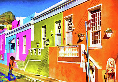 Digital Art - Colorful Bokaap  by Dennis Cox Photo Explorer