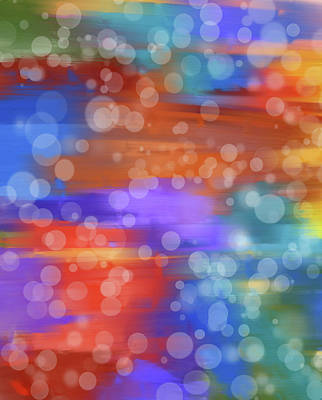 Colorful Bokeh Art Print