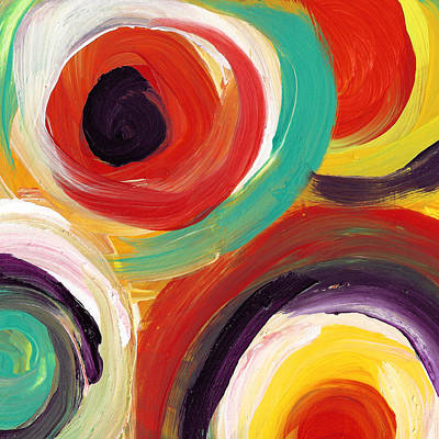 Painting - Colorful Bold Circles Square 2 by Amy Vangsgard