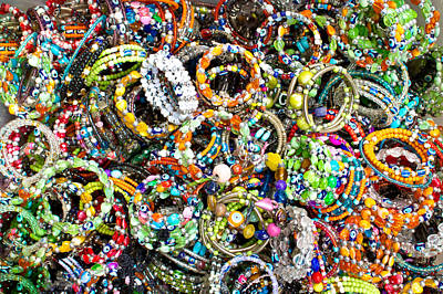 Talisman Photograph - Colorful Bracelets by Tom Gowanlock