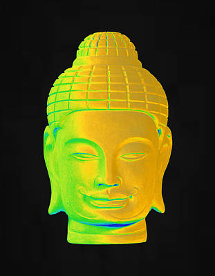 Photograph - colorful Buddha Khmer 3 by Terrell Kaucher