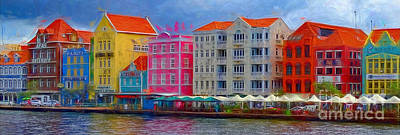 Photograph - Colorful Buildings In Curacao by Sue Melvin