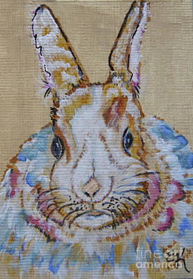 Painting - Colorful Bunny #755 by Ella Kaye Dickey