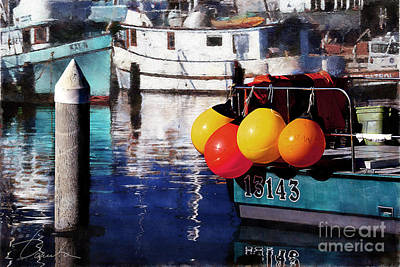 Photograph - Colorful Buoys by Danuta Bennett