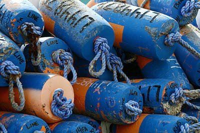Photograph - Colorful Buoys by Fraida Gutovich