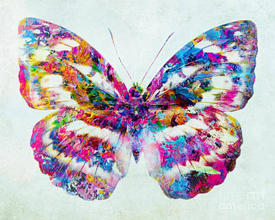 Mixed Media - Colorful Butterfly Art by Olga Hamilton