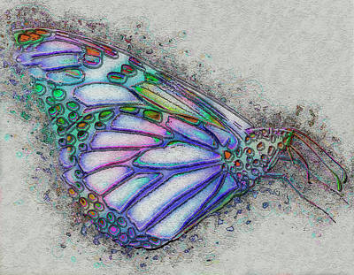 Manipulation Mixed Media - Colorful Butterfly by Jack Zulli