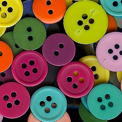 Colorful Buttons Art Print by Bonnie Bruno