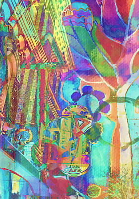 Photograph - Colorful Cafe Abstract by Susan Stone