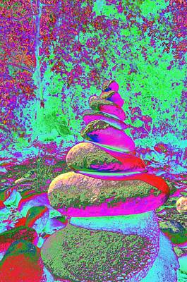 Royalty-Free and Rights-Managed Images - Colorful Cairn by Richard Henne