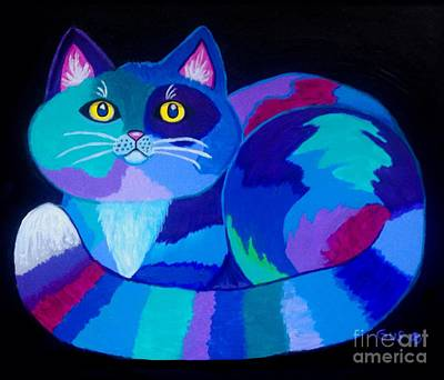 Digital Art - Colorful Calico Cat by Nick Gustafson