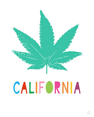 Tote Mixed Media - Colorful California Cannabis- Art By Linda Woods by Linda Woods
