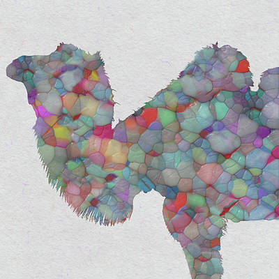 Domesticated Animal Painting - Colorful Camel by Jack Zulli