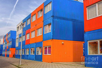 Photograph - Colorful Cargo Containers Used As Houses by Patricia Hofmeester