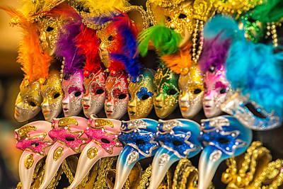 Veneta Photograph - Colorful Carnival Masks Venice by Zita Stankova