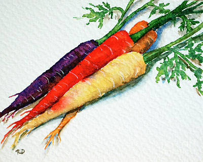 Painting - Colorful Carrots by Rebecca Davis