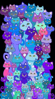 Digital Art - Colorful Cat Collection by Nick Gustafson