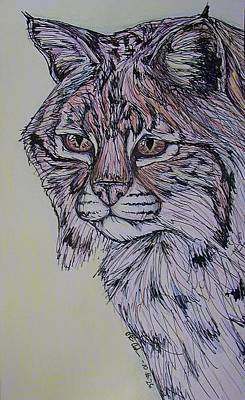 Bobcats Mixed Media - Colorful Cat by Olivia Hoppe