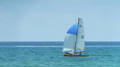 Photograph - Colorful Catamaran 1 Delray Beach Florida by Lawrence S Richardson Jr