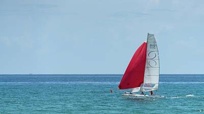 Photograph - Colorful Catamaran 2 Delray Beach Florida by Lawrence S Richardson Jr
