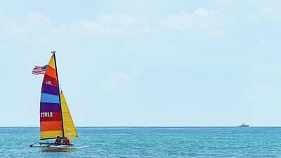 Photograph - Colorful Catamaran 4 Delray Beach Florida by Lawrence S Richardson Jr